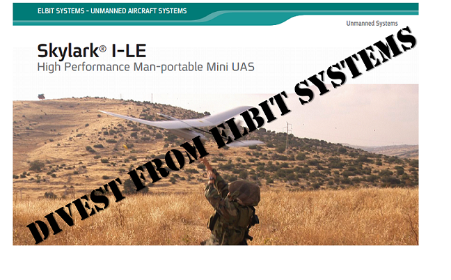 Divest from Israeli Elbit Systems